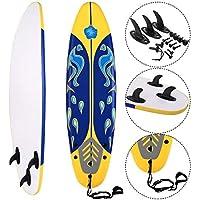 COSTWAY Surfbrett Surfboard Stand up 6' Funboard Shortboard Wellenreiter 182 x 50x 8cm Farbwahl