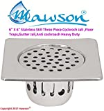 """MAWSON® royal 6"""" X 6"""" Stainless Still Three Piece Cockroch Jali ,Floor Traps,Gutter Jali,Anti cockroach Heavy Duty And Long Lasting"""