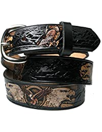 Bullet 69 Unisex American Made Leather Cowboy Western Belts