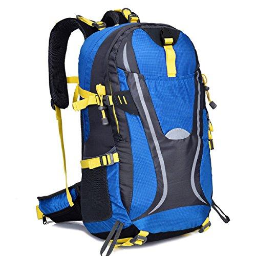 Multicolor Bergsteigen Tasche Outdoor Camping Wanderrucksack 45L Blue