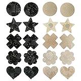 Tinksky 10 Paare Einwegblumenblätter Pasteten Brustnippel Abdeckungsaufkleber Unsichtbare Abdeckung(Zufälliger Stil)