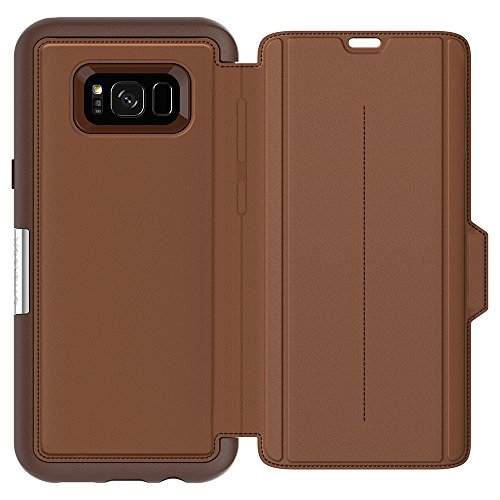 OtterBox STRADA SERIES for Samsung Galaxy S8+ - Retail Packaging - BURNT SADDLE (BURNT SADDLE/CHAPSHAIR LEATHER)