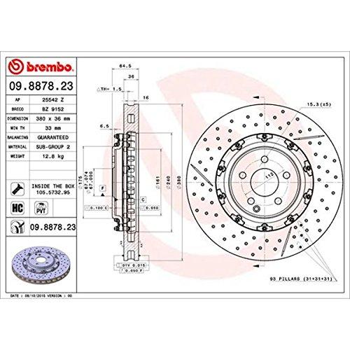 Preisvergleich Produktbild BREMBO 09.8878.23 Bremsscheiben
