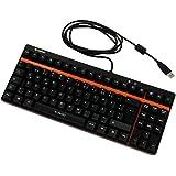 Rapoo VPRO V500 mechanische Gaming Tastatur (programmierbare Tasten, Anti-Ghosting, On-Board Speicher, USB, QWERTZ deutsches Layout) schwarz