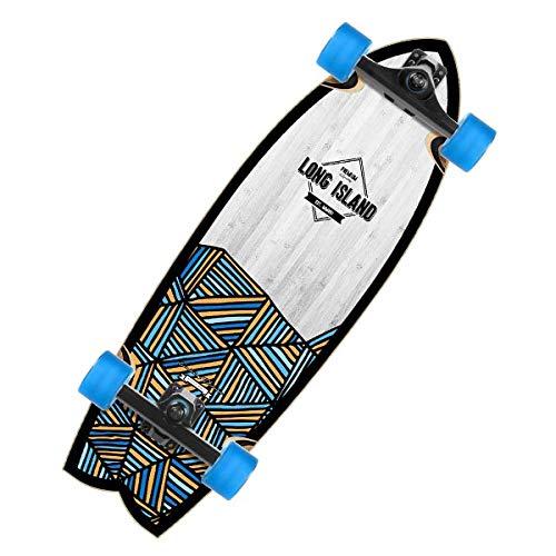 Long Island Surf 29.9' est un surfskate 7 plis bouleau qui vous permettra de retranscrire le feeling du surf sur votre skateboard. Les trucks Long Island surf 150mm permettent de pomper facilement et efficacement. Excellant rapport qualité/prix pour ...