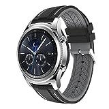 Ansenesna Sport Bracelet Smartwatch Silikon Armband Fitness Tracker Runtastic für Samsung Gear S3 Classic Wasserdicht (Grau)