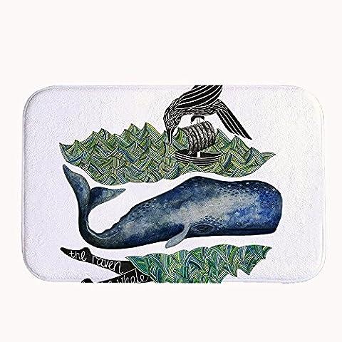 warrantylly la balena Rave Corallo decorativo in pile ingresso tappeto tappeto zerbino, #05, 16
