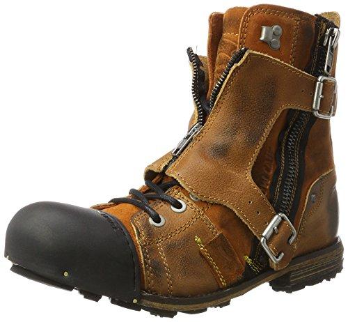 Yellow Cab Herren Industrial M Biker Boots, Braun (Tan 000), 46 EU