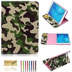 Galaxy Tab A 9.7 Case,Dteck(TM) Ultra Slim Cartoon Cute Pattern Premium Leather Folio Flip Stand Wallet Case Cover for Samsung Galaxy Tab A 9.7 inch SM-T550 (02 Army green Pattern)