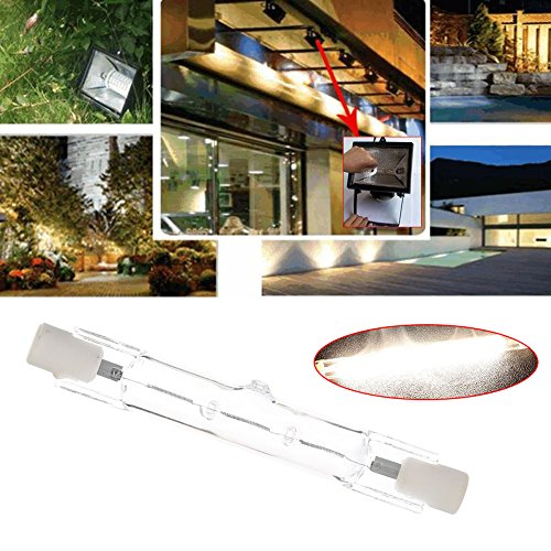 Mingruie Lumières d'inondation à double extrémité des ampoules R7S d'halogène de T3 220-240v 78MM, 80W