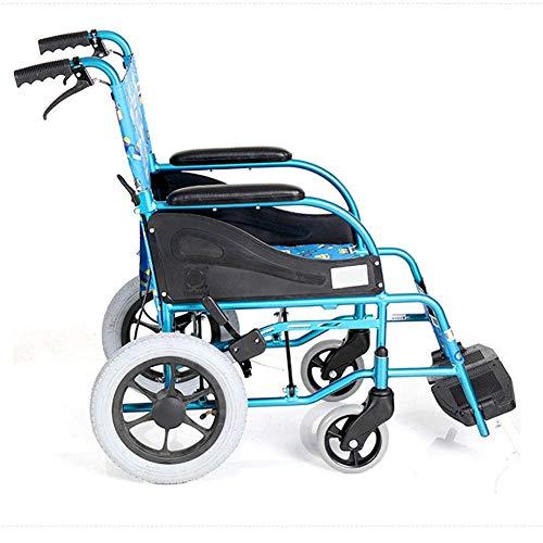 Multifunktionaler Leichter Faltbarer manueller Kinderrollstuhl, bequem für Kinder zum Tragen des ultraleichten faltbaren Rollstuhls