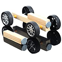 Rishil World DIY Handmade Small Wooden Car Kit Magnetic Wood Model Assembly Toy