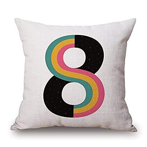 KooNicee Cushion Cases Of Letter 20 X 20 Inches /