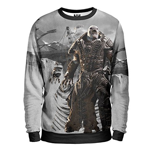 GEARS OF WAR Felpa Uomo - Generale Raam Sweatshirt Man - Gears of War 4 Videogioco Microsoft Xbox One PC Windows Game T-Shirt