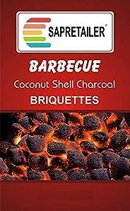 SAPRETAILER Coconut Shell Charcoal Briquettes for Barbecue 20Kg