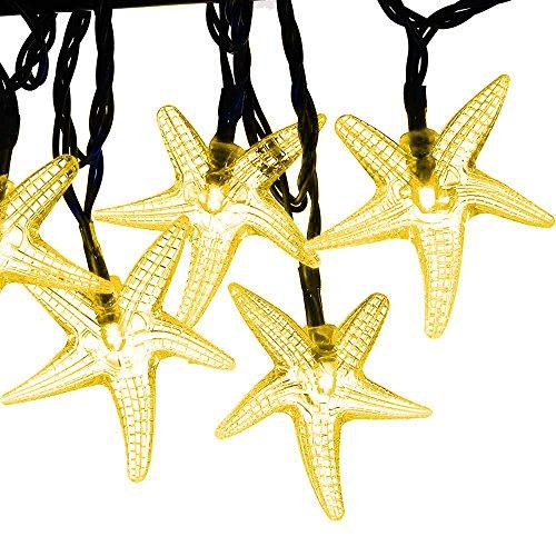 Isightguard Solar betriebenen Lichterkette 30 Led 5m / 16ft Seestern String-Licht für Garten Terrasse, Weihnachten, Weihnachtsbaum, Urlaub (Begannen Die Halloween)