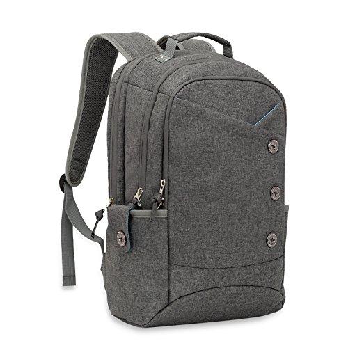Kingslong zaino porta pc donna ummo antifurto zanio scuola vintage borsa per laptop da 15.6 pollici per ufficio lavoro università viaggio d'affari weekend lavorativi - grigio