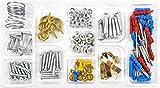 * Heimwerker-Set 100-teilig (sortiert) | Nägel Dübel Schrauben Muttern Reißzwecken Pinnadeln Schraubhaken Unterlegscheiben Drahtfaden Bilderhaken