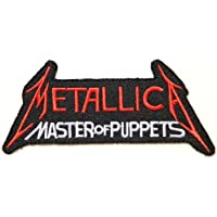 """5"""" x 2""""METALLICA MASTER OF PUPPETS Rockabilly Rock Punk Music Band Logo jacket T-shirt Patch Iron on Embroidered"""
