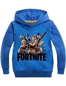 ZIGJOY Fortnite Gaming Gamer Sudadera con Capucha Cómoda de Algodón para Niños