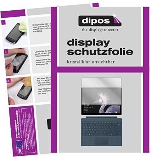 Microsoft Surface Pro (2017) Schutzfolie - 2x dipos Displayschutzfolie Folie klar