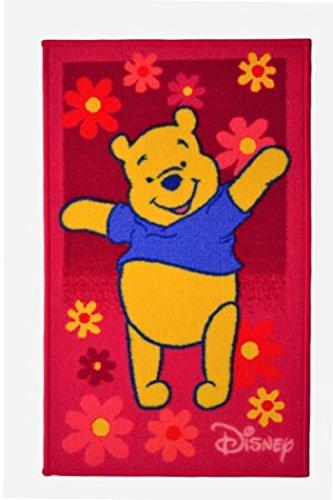Kinder Teppich Kinderteppich mit Winnie the Pooh / Teppich / Kinder Teppich / Kinderspielteppich / Kinderteppich / Wandteppich / Modell Kinderteppich Disney Winnie the Puuh Bär / rosa / Dieser wunderschöne und Kinderteppich mit Winnie ist in der Größe 50 x 80 cm -