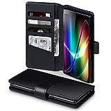 TERRAPIN, Kompatibel mit Sony Xperia 10 Plus Hülle, [ECHT Leder] Brieftasche Case Tasche mit Standfunktion Kartenfächer & Bargeld - Schwarz