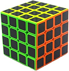 Axcone Cubo Rubik 4x4 Puzzle Magico Cubo Carbon Fiber Sticker Giocattolo,per Maggiore Rapidità e Precisione Puzzle Game e Regalo di Festa (4x4)
