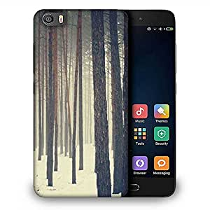Snoogg Snow in Forest Designer Protective Phone Back Case Cover for Samsung Galaxy J1