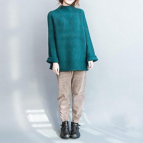 ZQQ Ladies plus size cavo maglia giacca sciolto e ispessita