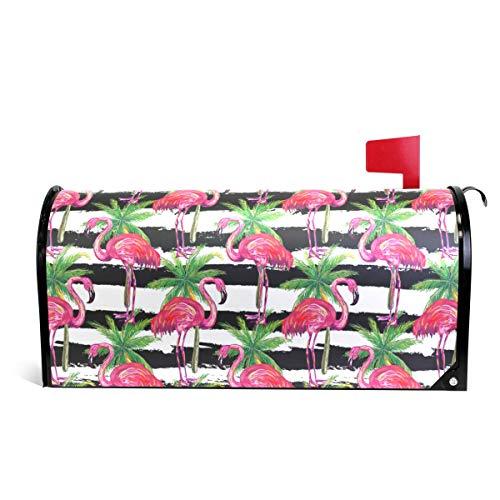 DragonSwordlinsu Coosun Exotique Rose Flamingo Oiseaux et Palmiers magnétique pour boîte aux Lettres surdimensionné 64,8 x 45,7 cm 20.8 x 18 inch-Standard Size Multicolore