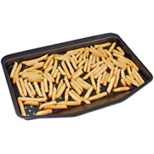 CHG French Fry Baking Tray, Stainless Steel, Anthracite, 41 x 31.5 x 2.5 cm