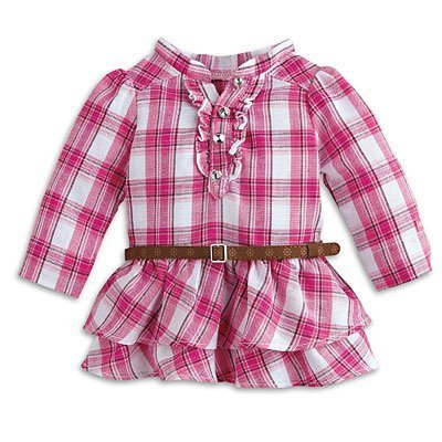 American Girl - Western Plaid Outfit plus Charm for Dolls - MY AG 2014 by American Girl