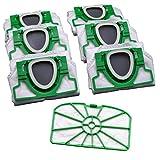 12 Microvlies Staubsaugerbeutel UND Motorschutzfilter geeignet Vorwerk Kobold 200 vorgefaltet im Karton
