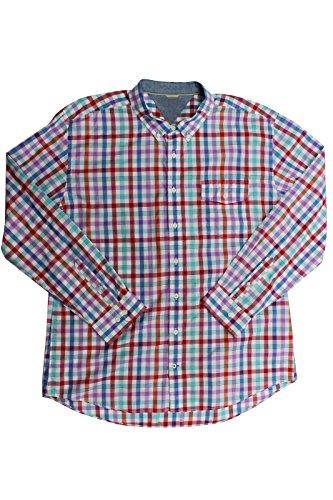 Tommy Hilfiger Herren Braxton Button up Langarmshirt Langarm Shirt Hemd Aqua Water Blau