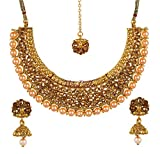 Best Four Piece Necklace - YouBella Gold Plated Alloy Necklace with Earrings For Review