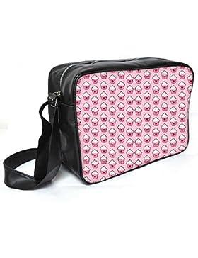 Snoogg Happy Cupcake Leder Unisex Messenger Bag für College Schule täglichen Gebrauch Tasche Material PU