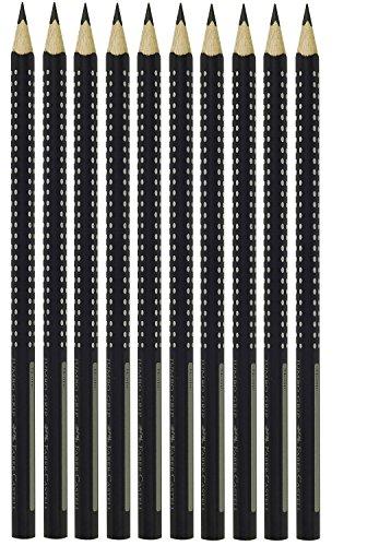 Faber-Castell 274002 - Bleistift Grip 2001, FSC100%, Mine B, Schaft schwarz