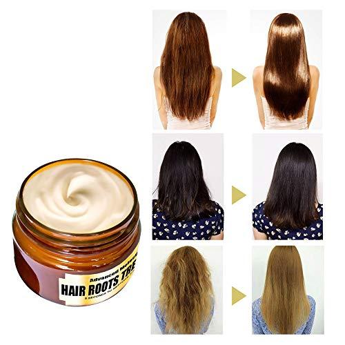 Tensay 1 Stücke 60 ML Haar Entgiftende Haarmaske Erweiterte Molekulare Haarwurzeln Behandlung Erholung Elastizität Haarspülung Lustre Anzug für Langes Haar Kurzes Haar Dauerwelle Färben + Kamm (Keratin-haar-spray-behandlung)