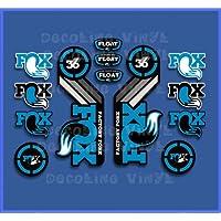 Ecoshirt RH-DW0M-H2S Stickers Fork Fox Float 36 2015 Heritage DP1087 Stickers Aufkleber Decals Autocollants Desivi, Blue