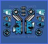 PEGATINAS FORK FOX FLOAT 36 2015 HERITAGE DP1087 STICKERS AUFKLEBER DECALS AUTOCOLLANTS ADESIVI AZUL