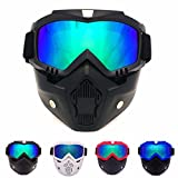 Best Modular Snowmobile Helmet - World2home Modular Helmets Face Mask, Detachable Goggles Review