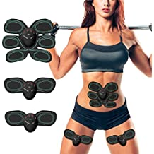 ESMK Elettrostimolatore Muscolare EMS Addominali Trainer Cintura Addominale Portatile ABS Stimolatore Addome/Braccio/Gambe/Waist/Glutei Massaggi-attrezzi Uomo/Donna