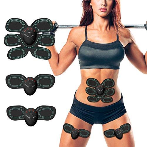 ESMK Elettrostimolatore Muscolare EMS Addominali Trainer Cintura Addominale Portatile ABS Stimolatore Addome/Braccio/Gambe/Waist/Glutei...
