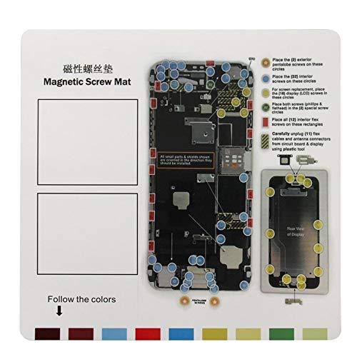 DELANSHI Für iPhone 6 Plus Magnetschrauben Matte, Größe: 26 cm x 25 cm Handy-Wartungstool Reparaturwerkzeuge - Mat Schraube 4 Iphone