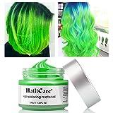Coloration Temporaire Cheveux, 120g Boue de Cheveux Unisex DIY Cheveux Couleur Teinture de Cheveux Naturel Hydratant et Mat Vert