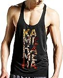 Stylotex Stringer Tank Top Kamehameha Fitness Gym Shirt Supercool-Material mit Feuchtigkeitsregulierung, Größe:XL, Farbe:schwarz