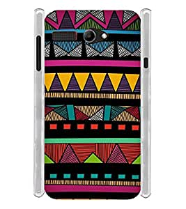 Tribal Indian Art Soft Silicon Rubberized Back Case Cover for Lava Iris Atom 2
