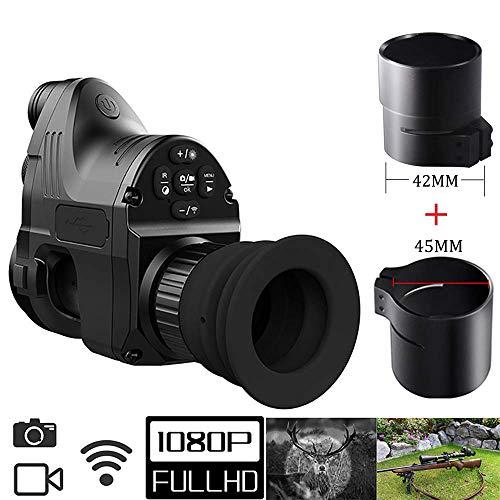 LLP LM NachtsichtgeräteNachtsichtgerät Jagd Militär Range Monokulare Teleskope 200M 1080P HD Digitalkamera Day Night Vision Jagd WiFi IR Infrarot 4X-14X Zielfernrohr Andiord/Ios APP