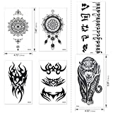 Konsait temporär Tätowierung schwarz Tattoo K...Vergleich